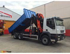 Kipper truck crane IVECO TRAKKER 380 PALFINGER PK44002  http://www.ventadecamiones.eu/en/truck-crane/kipper-trusck-for-sale-truck-crane-iveco-trakker-palfinger-pk44002-europe.html