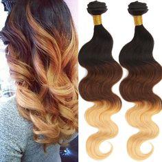 "Wholesale 8Bundles Brazilian Human Hair Extensions Ombre 50g/pc  20"" Hair Hot #WIGISS"