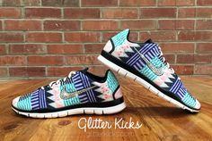 These will help me run... New Women's Nike Free Run TR Fit 3 PRT Blinged by ShopGlitterKicks