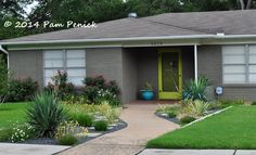- curved path to door - gravel mulch