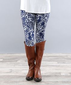 Look what I found on #zulily! Coco and Main Paisley Leggings - Women by Coco and Main #zulilyfinds