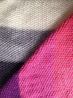 Manta tejida dos agujas pie de cama tejido pinterest for Colchas de punto de lana