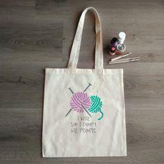 "Knitting tote bag ""I Knit So I Don't Kill People"", canvas tote bag hand painted bag, natural cotton bag, eco friendly, shopping bag Plastic Shopping Bags, Stencil Painting, Cotton Bag, Knitted Bags, Needle And Thread, Canvas Tote Bags, Reusable Tote Bags, Hand Painted, Knitting"