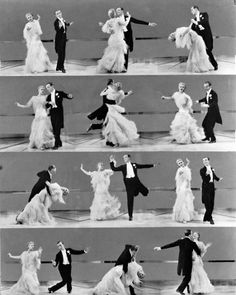 """Ginger Rogers (1911-1995), with dancer Fred Astaire (1897-1987), in Mark Sandrich's film, """"Top Hat,"""" 1935"""