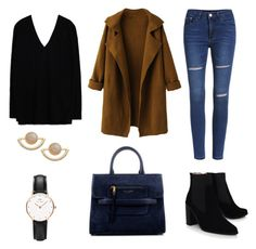 """""""Untitled #55"""" by kerrie-gregory on Polyvore featuring WithChic, Zara, Kurt Geiger, Marc Jacobs, Daniel Wellington and T+C by Theodora & Callum"""