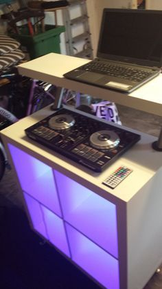diy custom home studio dj console dj consoles pinterest. Black Bedroom Furniture Sets. Home Design Ideas