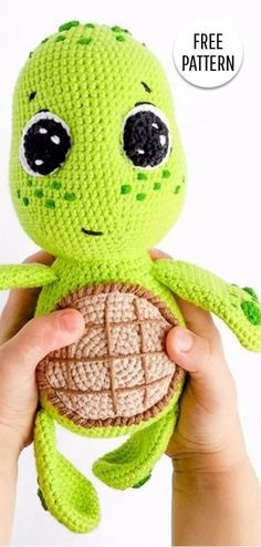 Amigurumi Turtle Free Pattern - Crochet Clothing and Accessories Crochet Eyes, Crochet Diy, Crochet For Boys, Boy Crochet, Baby Knitting Patterns, Crochet Amigurumi Free Patterns, Crochet Turtle Pattern Free, Pattern Sewing, Crochet Animal Amigurumi