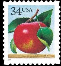 Reserved Custom Order for paulaearliwine1 ..Custom order with Apples and Oranges theme. Vintage postage stamps for mailing wedding invitation sold on Etsy by TreasureFox, $80.00