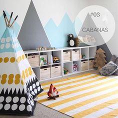 Começando o dia com mais uma ideia legal para o espaço das crianças: cabaninhas! #decorkids #tendencia2018 #cabanainfantil (foto não autoral)
