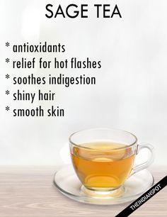 SAGE TEA BENEFITS AND RECIPE