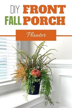 Learn to make this beautiful and festive DIY Fall Front Porch Planter for your porch, entryway, fireplace hearth or your living room. Decorating with flowers is fun! Our wreath of the month club has over 100 video tutorials, including this one. Click to learn more. Grab your glue gun and start crafting today! Porch Decorating, Decorating Your Home, Diy Home Decor, Artificial Flower Arrangements, Artificial Flowers, Front Porch Planters, Fireplace Hearth, Fall Decor, Farmhouse Decor