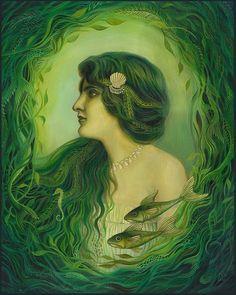 owls-love-tea:    The Nereid - Art Nouveau Mermaid Goddess