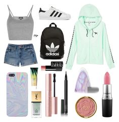 """"""" school """" by vevester on Polyvore featuring Topshop, adidas Originals, adidas, Aéropostale, MAC Cosmetics, tarte, Milani, NARS Cosmetics, Too Faced Cosmetics and Yves Saint Laurent"""