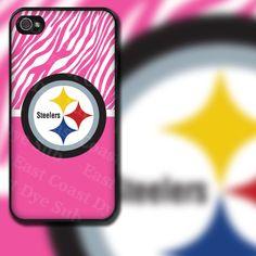 Pittsburgh Steelers Pink Zebra iPhone 4/4s or by EastCoastDyeSub, $16.00