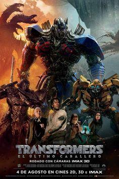 Sinopsis:Dos especies en guerra: una de carne y hueso, la otra de metal. El Último Caballero rompe con el mito original de la franquicia de Transformers y redefine lo que significa ser un héroe. Humanos y Transformers están en guerra y Optimus Prime se ha ido. La llave para salvar nuestro futuro está enterrada en los secretos del pasado, en la historia oculta de los Transformers en la Tierra. Salvar a nuestro mundo está en manos de una alianza única..