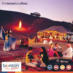 An Arabic Music sets the perfect score while you relax in the comfortable tents, a delicious barbecue is smoked just for you, under the starlit sky. There are ample of other activities like Camel Ride among the Dunes, Smoking Sheesha , painting henna or learning a few belly dance moves & much more.. We Guarantee you a Fun packed Trip as you Explore Emirates with Us! Call us now: +91 120 4863344 for a Memorable Experience with Most Innovative Travel Partner
