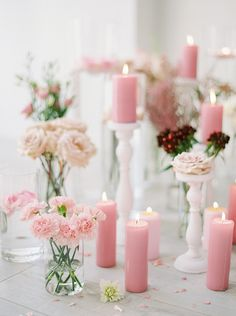 Romantic Blush Pink Flower and Candle Backdrop Pink Wedding Decorations, Pink Wedding Colors, Purple Wedding, Flower Decorations, Wedding Flowers, Wedding Bells, Wedding Centerpieces, Lavender Bridesmaid Dresses, Wedding Dresses