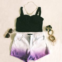 @vanessaaameow ombre all day #21DaysOfLA #Day8 #CropTop