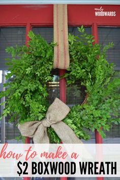 Make a DIY boxwood wreath for only a few dollars using a wreath form and scissors. You'lllove this quick and easy craft.So what are you waiting for? Grab a few friends and find an overgrown boxwood. (If you like this wreath, you'll love my $3 hydrangea wreath.) If you think that craft night exists solely …