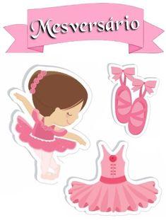 Mesversario Ballerina Birthday Parties, Ballerina Party, Art Birthday, Ballerina Centerpiece, Baby Ballet, Baby Box, Digi Stamps, Baby Decor, Print Pictures