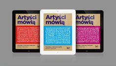 """Aplikacja """"Artyści mówią"""" to dostęp do prawie 900 dzieł najwybitniejszych współczesnych polskich malarzy, grafików i fotografików, niezwykłych życiorysów, tajemnic warsztatu i mnóstwa pikantnych anegdot. Wydawca: Optizen Labs na zlecenie Rosikon Press, Wersja iOS."""