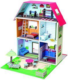 Maison de poupée Murielle en Carton recyclé 40x51x51cm sur Jardindeco