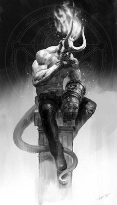 A Year in Film A Movie Trailer Mashup — Strange Harbors Dark Fantasy Art, Dark Art, Comic Books Art, Comic Art, Hellboy Tattoo, Demon Art, Poses References, Marvel Art, Dark Horse