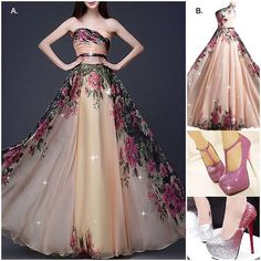 A or B is your love? #PromDress #PartyDress #Shoes #Fashion #FreshFashion