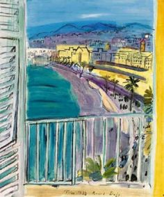Artwork by Raoul Dufy, La fenêtre à Nice, Made of oil on canvas Raoul Dufy, Art And Illustration, Art Français, Georges Braque, Diego Rivera, Henri Matisse, Land Art, French Artists, Beautiful Paintings
