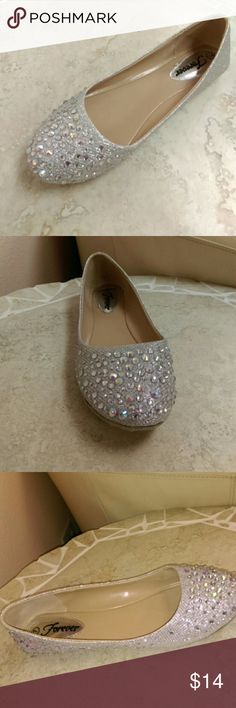 Bundle up for discounts  silver rhinestone Flats Size 7 Shoes Flats & Loafers