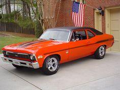 This 1969 Chevy Nova SS is rocking a 427 under the hood. General Motors, Chevy Nova, Nova Car, Ford Falcon, Bugatti, Automobile, Ferrari, Volkswagen, Toyota