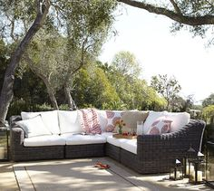 Monterey All-Weather Wicker Sectional Set | Pottery Barn