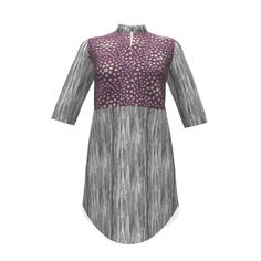 Named Clothing Helmi Tunic Dress made with Spoonflower designs on Sprout Patterns. An international collaboration between maryyx in Texas, USA and zandloopster in the Netherlands. Make COPY and CUSTOMIZE to arrange prints on FLAT layout, which is what determines how project prints!!