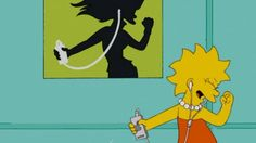 Apple y los Simpsons Lisa Simpsons, Simpsons Art, Cartoon Icons, Girl Cartoon, Cartoon Characters, Funny Profile Pictures, Reaction Pictures, Simpson Wallpaper Iphone, Kawaii Doodles