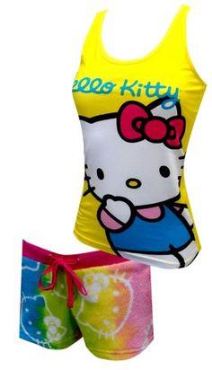 Hello Kitty Tie-Dye Shortie Pajama Set