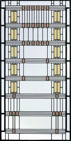 Frank Lloyd Wright, 'Wisteria' Leaded Glass Window from the Darwin D. Martin House, Buffalo, New York, circa 1903-05 executed by Linden Glass Company, Chicago.