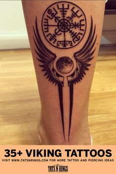 Viking Tattoo Designs and Inspirations - diy tattoo images - Viking Tattoo Meaning, Viking Tattoo Design, Viking Compass Tattoo, Viking Tattoo Symbol, Leg Tattoos, Body Art Tattoos, Sleeve Tattoos, Tatoos, Viking Tattoo Sleeve