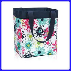 Thirty One Essential Storage Tote in Loopsy Daisy - No Monogram - 4446 - Top handle bags (*Amazon Partner-Link)