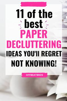 Clutter Organization, Paper Organization, Organizing Tips, Office Organization, Cleaning Hacks, Minimalist Living Tips, Minimalist Lifestyle, Declutter Home, Paper Clutter