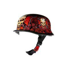 Orange skull motorcycle helmet Cheap