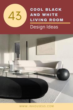 43+ Cool Black And White Living Room Design Ideas #white #whitelivingroom #whitelivingroomdesign Rearranging Furniture, Black And White Living Room, All Modern, Living Room Designs, Relax, Design Ideas, Comfy, Flooring, Cool Stuff
