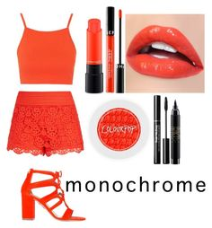 """Monochrome"" by randomcanadian ❤ liked on Polyvore featuring Topshop, City Chic, Aquazzura, MAC Cosmetics and Sephora Collection"