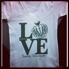 LOVE this idea! Cute shirt for panhellenic recruitment - have all of the chapters at your school order them for greek unity days!