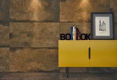 Blog da Revestir.com: Aço! Instigada por essa tendência, a Cerâmica Portinari lançou no começo deste ano a coleção Corten HD, que reproduz as características mais peculiares do popular aço Corten.