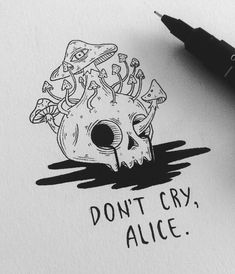 Doodling in Wonderland, pt. More Alice inspired doodles. And If you like stuff like this, you should check out Ryan does it much better. Inspiration Art, Art Inspo, Creative Inspiration, Character Inspiration, Cute Drawings, Drawing Sketches, Demon Drawings, Drawing Eyes, Tattoo Drawings