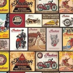 Motorcycles Indian Vintage Signs Black Cotton Quilting Fabric is from the Indian Motorcycle Collection designed for Riley Blake. This fabric is cotton and is approx 44 inches cm) wide. yard = cm) This fabric is sold in yard increments […] Cotton Quilting Fabric, Cotton Quilts, Motorcycle Style, Bobber Motorcycle, Motorcycle Quotes, Before And After Diy, Indian Scout, Shirt Quilt, Coordinating Fabrics