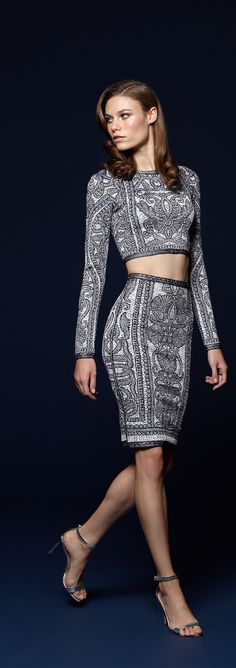 Break the pattern this spring in new styles from Herve Leger.