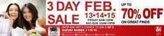 SM Sucat 3 Day Sale Feb 13 to 15, 2015