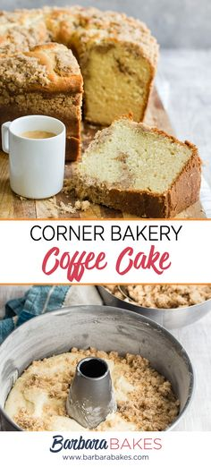 Corner-Bakery-Cinnamon-Creme-Coffee-Cake-Barbara-Bakes-Pin Cinnamon Streusel Coffee Cake, Crumb Coffee Cakes, Cinnamon Cake, Coffe Cake, Baking Recipes, Cake Recipes, Dessert Recipes, Desserts, Dessert Tray