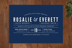 Classic Type Wedding Invitations by Pistols at minted.com